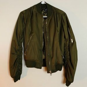 Top Shop Green Bomber Jacket